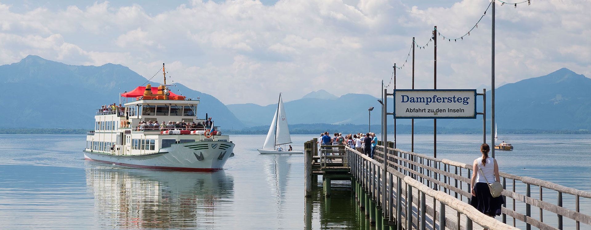 Bootsanleger am Chiemsee